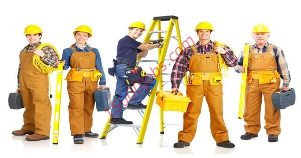 مطلوب فنيين كهرباء وسباكة وعمال نظافة