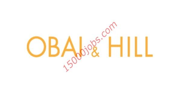 شركة Obai & Hill بالبحرين تطلب أخصائيين تسويق